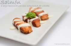 Cocina un exótico salmón a baja temperatura con mayonesa de wasabi. Te contamos cómo hacerlo fácil y rápido de preparar con Thermomix.