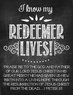 My Redeemer lives!  {Free} Easter printable.