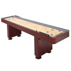 I want a shuffleboard in my man cave. You can put it directly on the wall while putting the pool table in the center of the room. I played shuffleboard for the first time in Arkansas in my twenties and it was a lot more fun then I originally thought it would.