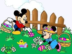 Disney Easter Minnie And Mickey Mouse Wallpaper