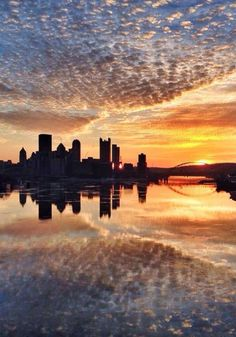 Sunrise over Pittsburgh . Look for THE WATCHER, next in the Crossing Realms series! Pittsburgh Skyline, Pittsburgh Pa, Beautiful World, Beautiful Places, Beautiful Sunset, Great Places, Places To See, Ohio River, Best Cities
