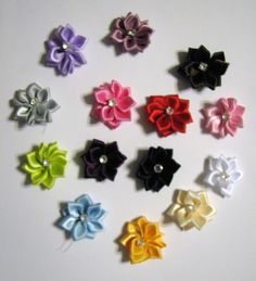 http://tophatter.com/auctions/11541    20 Multicolored Satin Ribbon Flowers $5