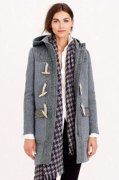 Toggle Coat in Mixed Tweed