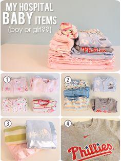 The Busy Budgeting Mama Hospital Bag- boy/girl clothes!