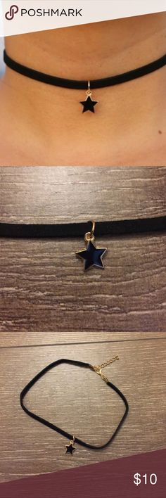 Black star velvet choker Adjustable length! One size fits most. Offers will be considered or countered with the lowest price.  Brand new! High quality! 🦋⭐️ Jewelry Necklaces