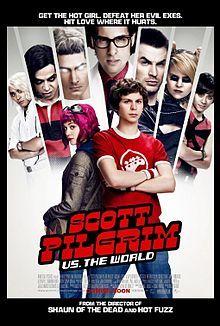 Scott Pilgrim vs. the World (2010)  Scott Pilgrim must defeat his new girlfriend's seven evil exes in order to win her heart. Super entertaining.