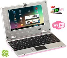 WolVol 7 inch Netbook Mini Laptop Tablet (Pink) 8 GB Hard Drive Latest Android 4.1 Model Touch-Screen with WIFI,Camera,Netflix,HDMI Port. Authorized and Pre-loaded with ToonGoggles Cartoon Videos (Includes: Charger, Wired Mouse, Velvet Case, Stylus Touch Pen) WolVol,http://www.amazon.com/dp/B00DK4CGEQ/ref=cm_sw_r_pi_dp_R3ENsb10VPYFNNAR