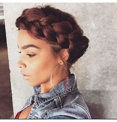 ***Try Hair Trigger Growth Elixir*** ========================= {Grow Lust Worthy Hair FASTER Naturally with Hair Trigger} ========================= Go To: www.HairTriggerr.com ========================= Super Cute Jumbo Goddess Braid and Hoops!