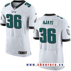 Men's Philadelphia Eagles #36 Jay Ajayi White Road Stitched NFL Nike Elite Jersey