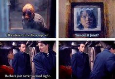 Torchwood<< I love Ianto's face in the last one. He completely agrees that Barbra wasn't quite right. Twelfth Doctor, Doctor Who, Torchwood Funny, Captain Jack Harkness, John Barrowman, Broadchurch, Rory Williams, Amy Pond, Dr Who