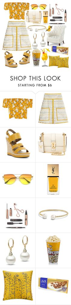 """""""Oh happy day!!☀"""" by pulseofthematter ❤ liked on Polyvore featuring See by Chloé, Michael Antonio, Valentino, Yves Saint Laurent, David Yurman, Bungalow 5, Clarissa Hulse and Lindt"""