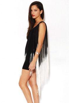 T-back Fringe Dress, Nuvula, akira.com, $129