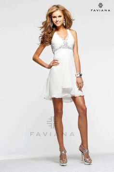 """Faviana 7075A """"Beautiful #faviana #gown perfect for #prom or #nightout. Comes in multiple colors. #dress #cocktail #beautiful #evening #spring #ballgown #2014"""""""