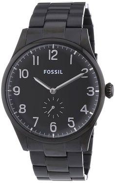 Fossil - Reloj Analógico de Cuarzo para Hombre, correa de Acero inoxidable color Negro: Amazon.es: Relojes