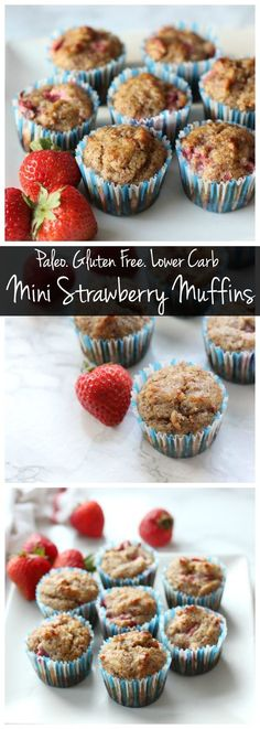 These mini strawberry muffins are paleo, gluten free, and delicious! They're…