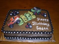 monster truck cake...birthday idea =)