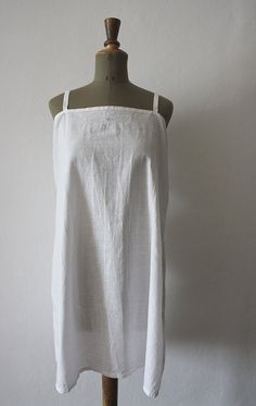 1900s White Cotton Dress // French Vintage by LaSartoria on Etsy