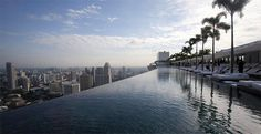 Marina Bay Sands Casino In Singapore - Infinity pool on the 57th floor