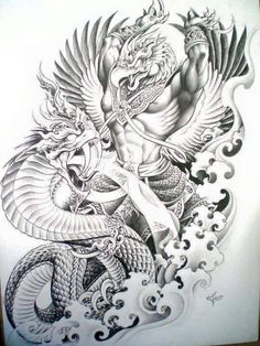 Do love to see Dragon Drawings? Well, we have collected the top 30 realistic drawings for your inspiration you will love. Khmer Tattoo, Thai Tattoo, Thailand Art, Thailand Tattoo, Easy Dragon Drawings, Dragon Tattoo Designs, Dragon Tattoos, Dragon Sketch, Kunst Tattoos