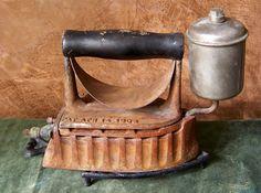 Antique Gas Iron The Monitor 1903 White Gas Powered Clothes Iron Rusty Iron Steam Iron Grandmas Iron Camo Bedding, Rustic Bedding, Gray Bedding, Bedding Decor, Antique Iron, Vintage Iron, Antique Stove, Vintage Stoves, Neutral Bedding