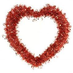 """24"""" OPEN HEART WREATH RED"""