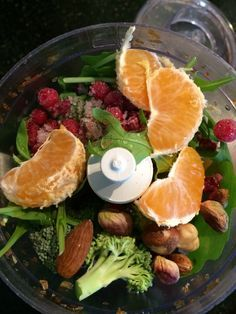 Fresh fruits and veggies = bird goodness!