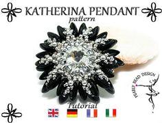 KATHERINA Pendant pattern with chilli beads by PearlyBeadDesign