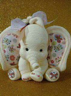 Elephant Stuffed Animal, Stuffed Animal Patterns, Baby Elephant, Polymer Clay Projects, Clay Crafts, Easter Flower Arrangements, Elephant Applique, Clay Baby, Cute Clay