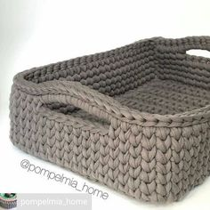 Get the yarn Crochet Storage, Crochet Box, Crochet Basket Pattern, Crochet Gifts, Crochet Yarn, Knitting Yarn, Crochet Patterns, Crochet T Shirts, Macrame Bag