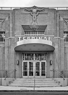Art Deco ~ U.S.A. | Lakefront Airport (formerly Shushan Airport), New Orleans, Louisiana