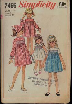 1960s Size 2 Breast 21 Smocked Dress Scarf by VintagePatternsCo1