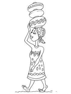 African Theme coloring page Colouring Pages, Coloring Books, Afrique Art, African Theme, Kids Around The World, Bubble Art, Thinking Day, Historical Art, African Culture