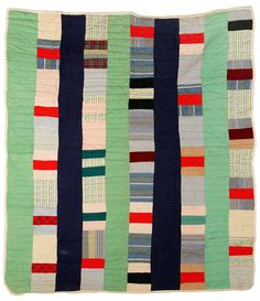 A nice example of a quilt to hang in the room. I could also make my own 'quilts' through stretch canvas, scissors, acrylic paint, and concept.