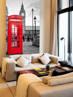 Cabina London - FOTOMURALES London Calling - VINILOS DECORATIVOS #decoracion #teleadhesivo #londres
