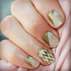 A combo of Obsessed and Edgy Jamberry Nail Wraps - Shop/order yours at http://meljoyjams.jamberrynails.net! #jams #nails #nailart