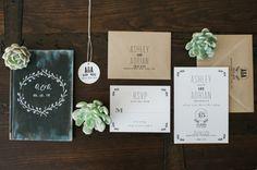 Moody invitations: http://www.stylemepretty.com/florida-weddings/homestead/2015/04/09/romantic-wedding-at-the-cooper-estate/ | Photography: Shea Christine - http://www.sheachristine.com/