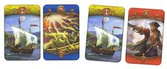 """Cards from """"Pirackie korony"""" by HobbyGames"""