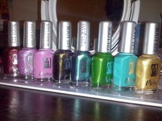 My Moyra: (left to right) Stephanie, Feel you, Tutti frutti, Avril, Deep forest, Johanne, Constance, Deborah :-)