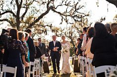 Sarah & Brandon's Ceremony under the Oaks at Oyster Bay Yacht Club, Amelia Island, FL | Stout Photography