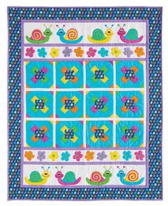 Snails & Blooms Quilt Kit