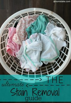 The best ways to rid of your clothes of the most common stains: gum, sweat, grass, and more! #ad @SeventhGen