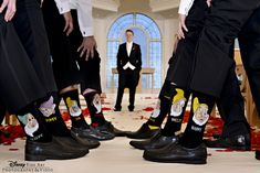 These groomsmen got in the Disney spirit with socks inspired by the Seven Dwarves