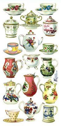 French China Victorian Stickers                                                                                                                                                                                 Mais