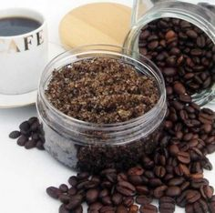 Mud Scrub    1 cup sugar    5 tbsp coffee grounds    1/4 cup oil of any kind you like    few drops of vanilla