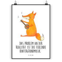 Poster DIN A3 Fuchs Gitarre aus Papier 160 Gramm weiß - Das Original von Mr. & Mrs. Panda. Jedes wunderschöne Poster aus dem Hause Mr. & Mrs. Panda ist mit Liebe handgezeichnet und entworfen. Wir liefern es sicher und schnell im Format DIN A3 zu dir nach Hause. Über unser Motiv Fuchs Gitarre Die Fox Edition ist eine besonders liebevolle Kollektion von Mr. & Mrs. Panda. Jedes Motiv ist wie immer bei Mr. & Mrs. Panda hangezeichnet und wird in unserer Manufaktur im Herzen Norddeutschlands...