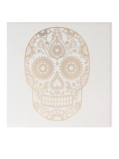 Image of Mexican Sugar Skull Tile - Tequila White