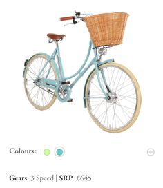 Country Living / CL Collections / Pashley Bike 645 L Pashley Bike, Oxford Blue, Bicycle Women, Royal Red, Duck Egg Blue, Vintage Bikes, 30th Anniversary, Colour List, Powder Pink