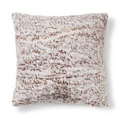Threshold™ Faux Fur Pillow - Brown