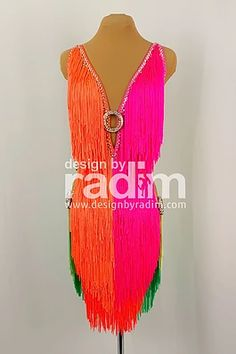 Latin Dance Dresses by Radim Lanik Latin Ballroom Dresses, Dance Outfits, Dance Costumes, Dance Wear, Clothes, Cabaret, Neon, Gowns, Beautiful