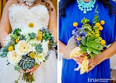 The bouquet on the left is stunning. Almost exactly what I was picturing in my head.